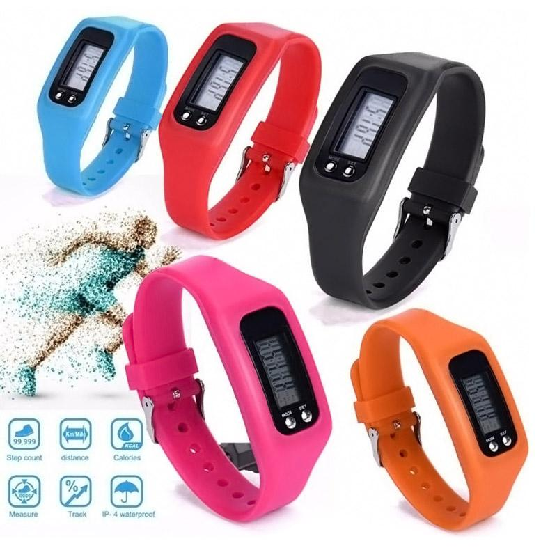 Multi Color Electronic LCD Podómetro Run Step Distance Calorie Counter Sports Gauge Fitness Pulsera Smart Step Tracker