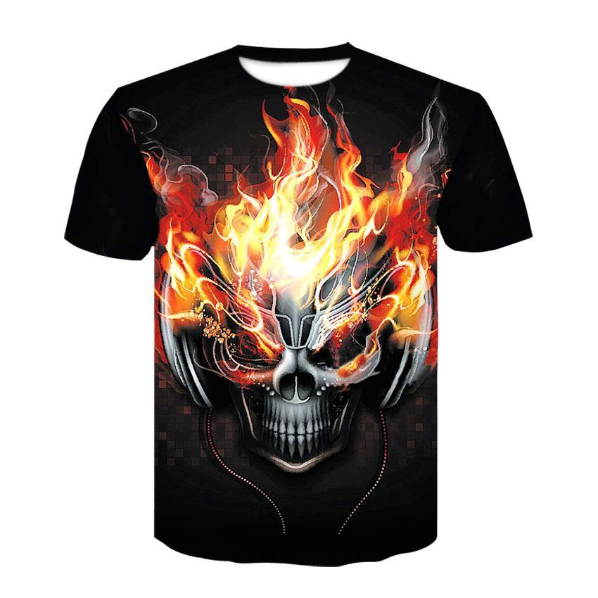 335785fce8b Compre Nueva Camiseta Del Cráneo De Halloween Hombres Mujeres 3D Print DJ  Camiseta De Manga Corta Oneck Hip Hop Tees Tops De Verano Cool Camiseta  Ropa ...