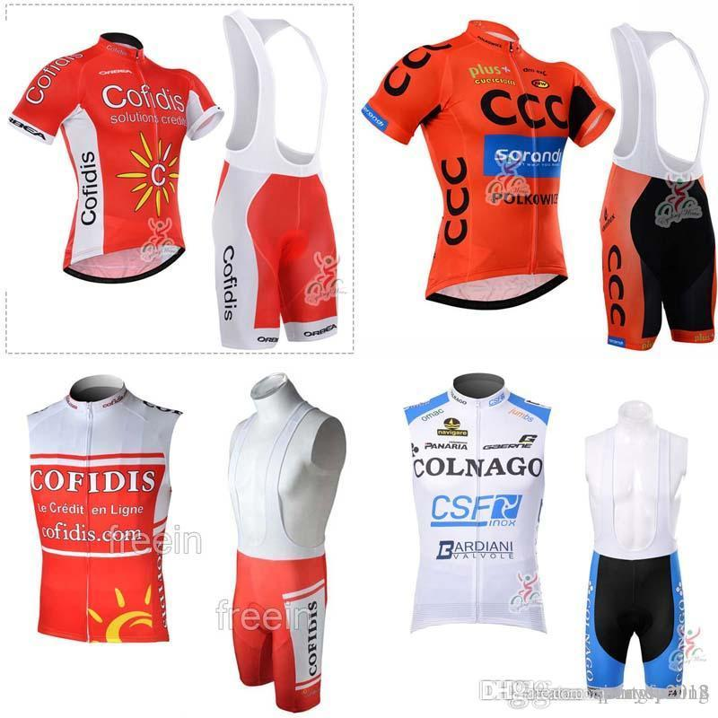 ac7bc0e58 2018 COLNAGO CCC COFIDIS Summer Cycling Jersey 3D Gel Pad Bib Shorts Sets Mountain  Bike Cycling Wear Men Summer Cycling Clothing