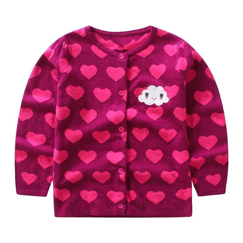 Kids Girls Sweater Cardigan 2018 New Girl\'S Single Breasted Long ...