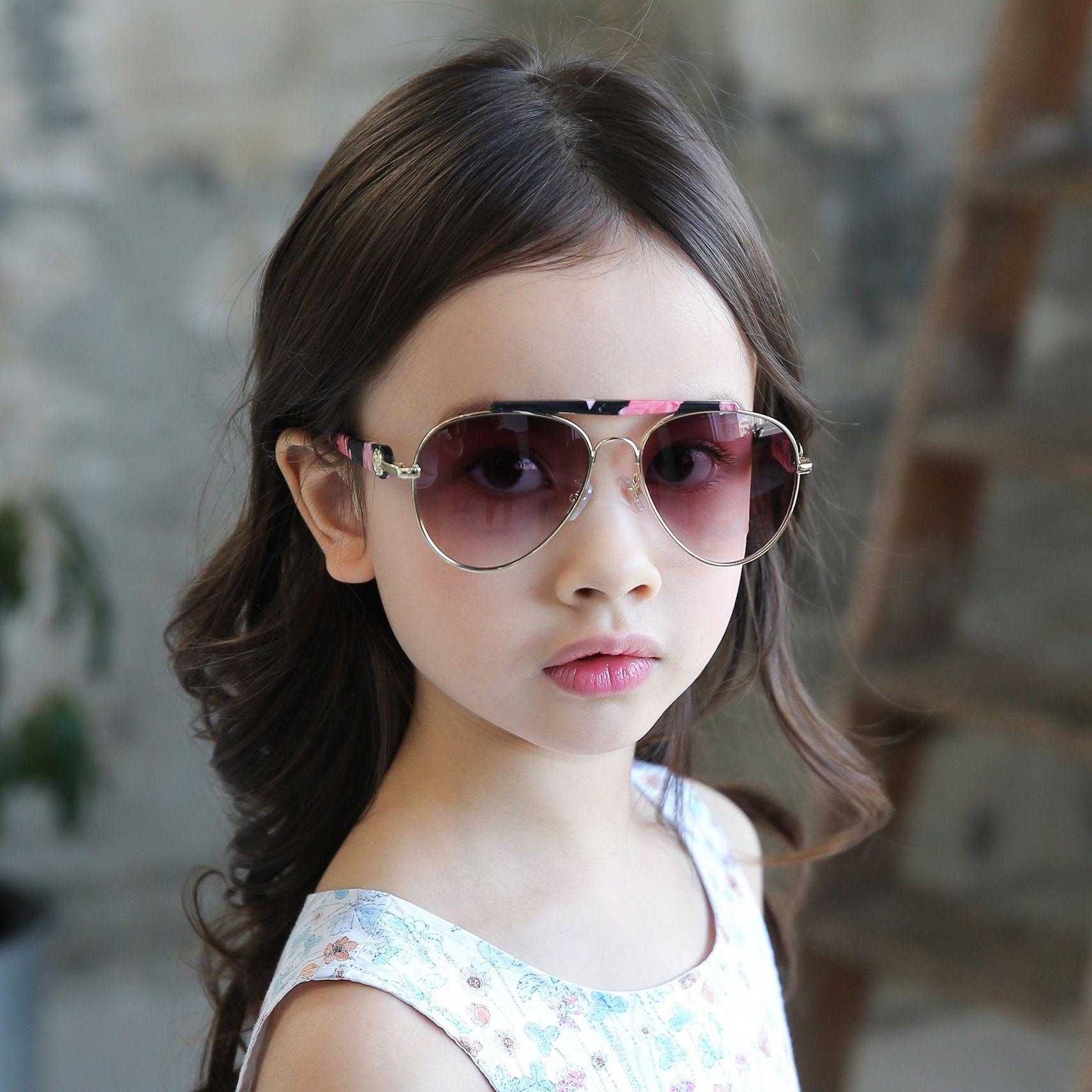 9b0af40f6b 2019 Designer Brand Aviator Sunglasses Kids Alloy Frame Sun Glasses Boys  Girls Oval Mirrored Sunglasses Goggles From Hiscreativepark