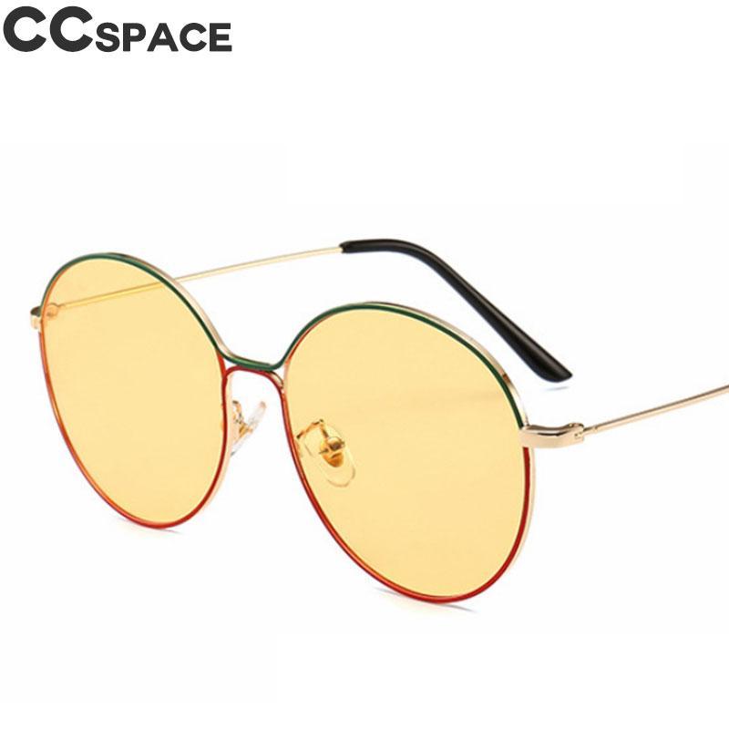 Compre Dupla Cor Verde Vermelho Oval Óculos De Sol Das Mulheres Dos Homens  Moda Shades UV400 Amarelo Night Vision Vintage Óculos Oculos 46047 De  Qiuyeluo, ... 9b9a8cf0be