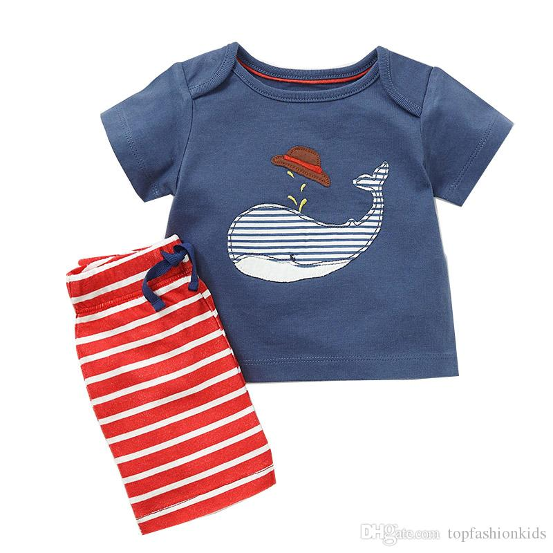 f1e78f00f01 2019 Baby Boy Clothes Sets Animals Patterns Children Summer Clothing 2018  Designer Fashion Boys Sets Play Set From Topfashionkids