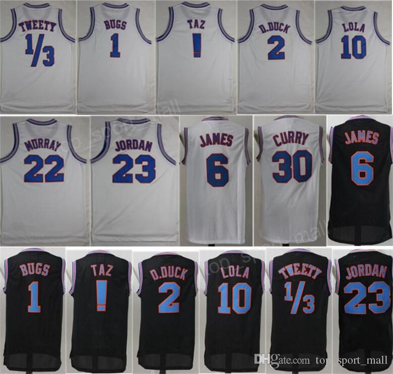 0499b507dc1 2019 Space Jam Tune Squad Jersey Men 2 Daffy Duck 22 Bill Murray 1 Bugs  Bunny 10 Lola Bunny Looney Tunes Basketball Jerseys !