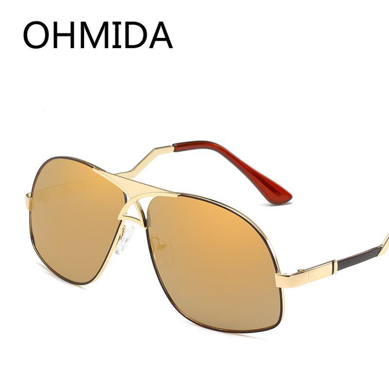 Compre Ohmida Avaitor Homens Óculos De Sol De Luxo Da Marca Do Vintage  Óculos De Sol De Ouro Para Homens 2018 Masculino Óculos De Condução Goggle Oculos  De ... 504bc3ea97
