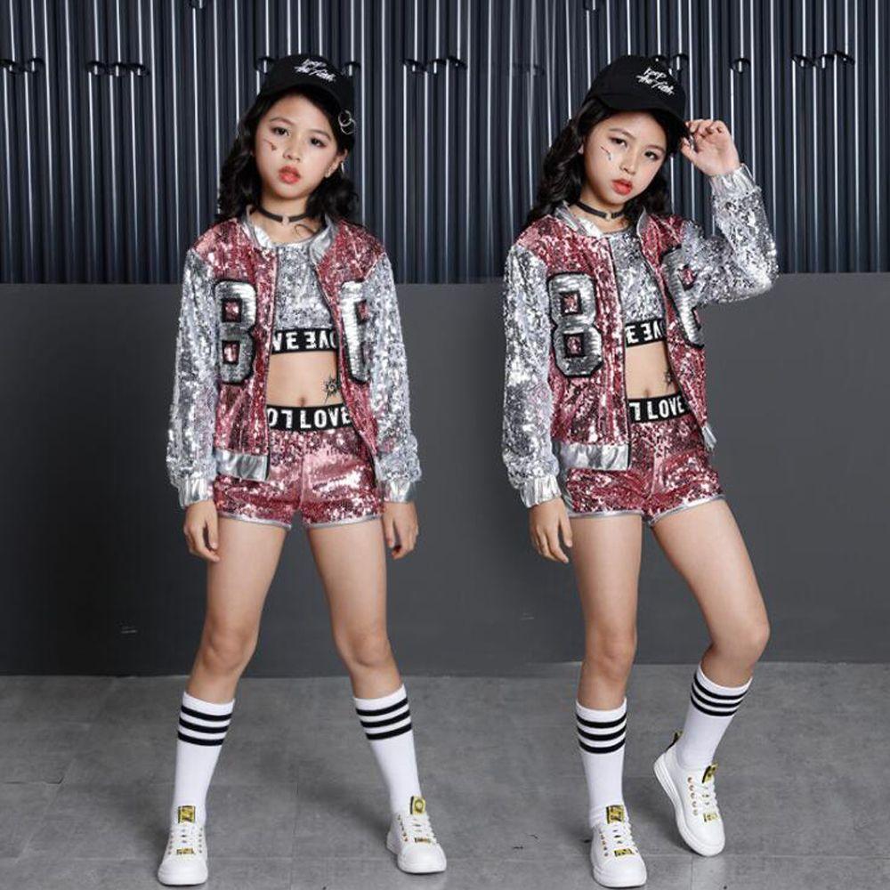 Compre Girls Sequin Ballroom Jazz Hip Hop Dance Competencia Trajes Tops  Shorts Chaquetas Para Niños Ropa De Etapa Ropa De Baile Trajes A  30.58 Del  Primen ... 6d3bee6490a