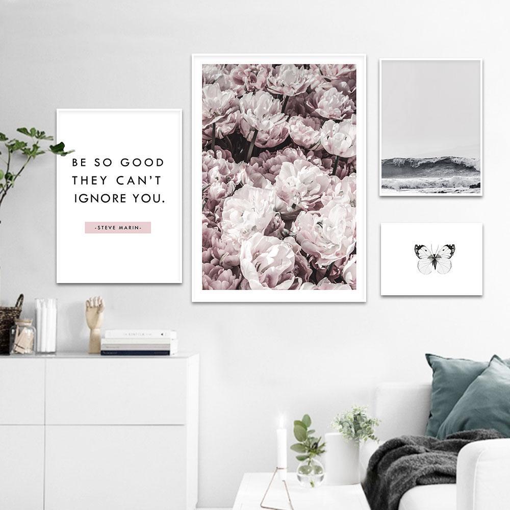 Großhandel Skandinavische Blume Ozean Wand Kunst Leinwand Malerei  Landschaft Nordic Poster Und Drucke Dekorative Bild Moderne Dekoration Von  Aliceer, ...