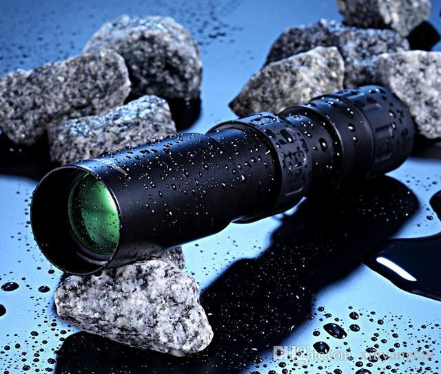 Binóculos originais 10-30x25 Zoom Monocular telescópio de alta qualidade Bolso Binoculo Caça Optical Prism Scope nenhum tripé