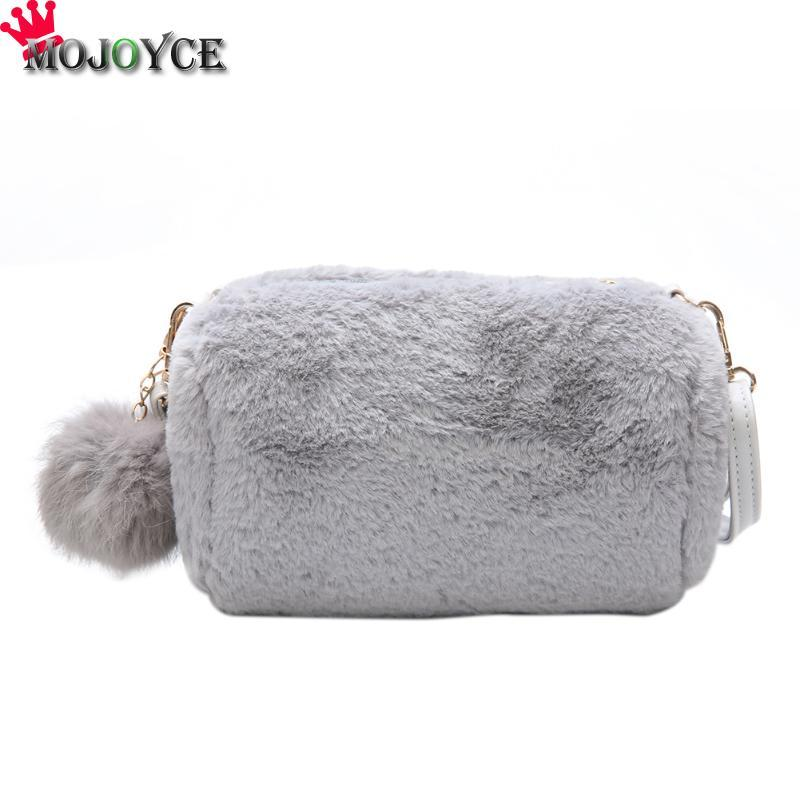 fdabbf8fd810 Women Fashion Faux Fur Messenger Bag Small Girls Crossbody Cross Body Bag  Faux Rabbit Hair Clutch Handtassen Handbags Bolsas Handbags On Sale  Shoulder Bags ...