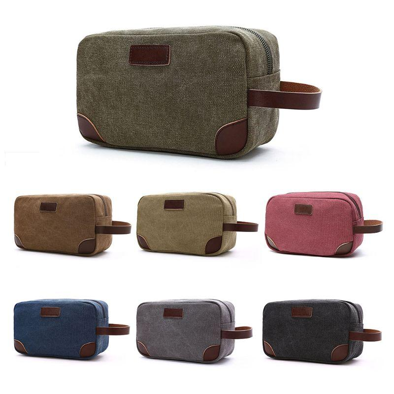 c7aec0b3df New Men Canvas Travel Cosmetic Bag Fashion Multifunction Makeup Bag Pouch  Toiletry Case 2018 Men Casual Make Up Makeup Travel Case Vanity Cases From  Yangti