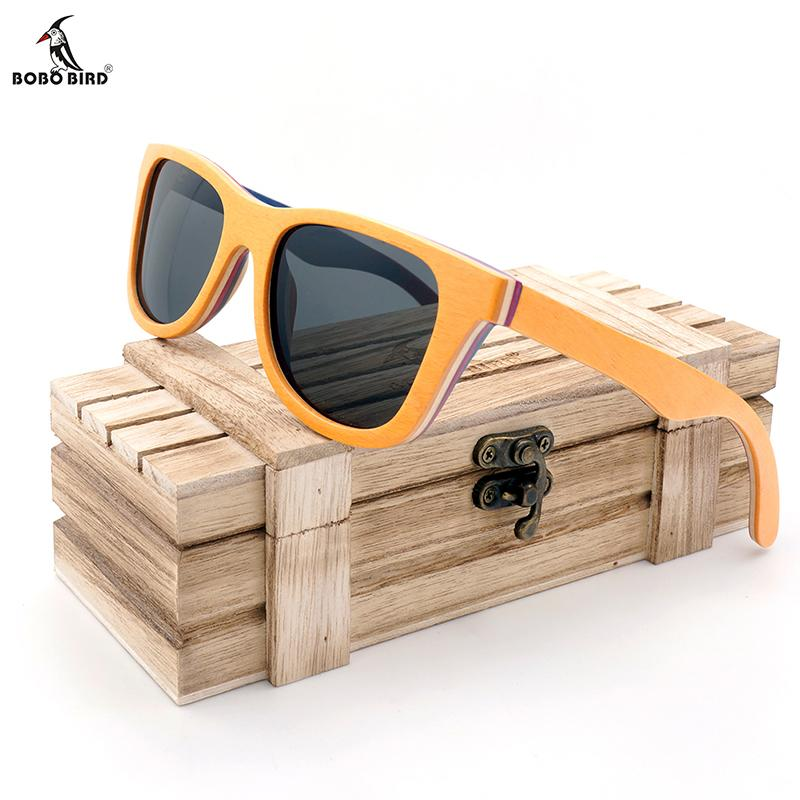 1d70262d0f8 With BOBO BIRD Skateboard Wooden Polarized Oculos De Sol Men Vintage Wood  Bamboo Sunglasses With Gift Box Circle Sunglasses Glass Frames From  Wrist2 watch