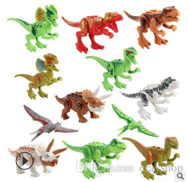 building blocks dinosaur toys jurassic dinosaur animal building blocks bricks christmas gifts for kids bag 201 dinosaur building blocks jurassic dinosaur