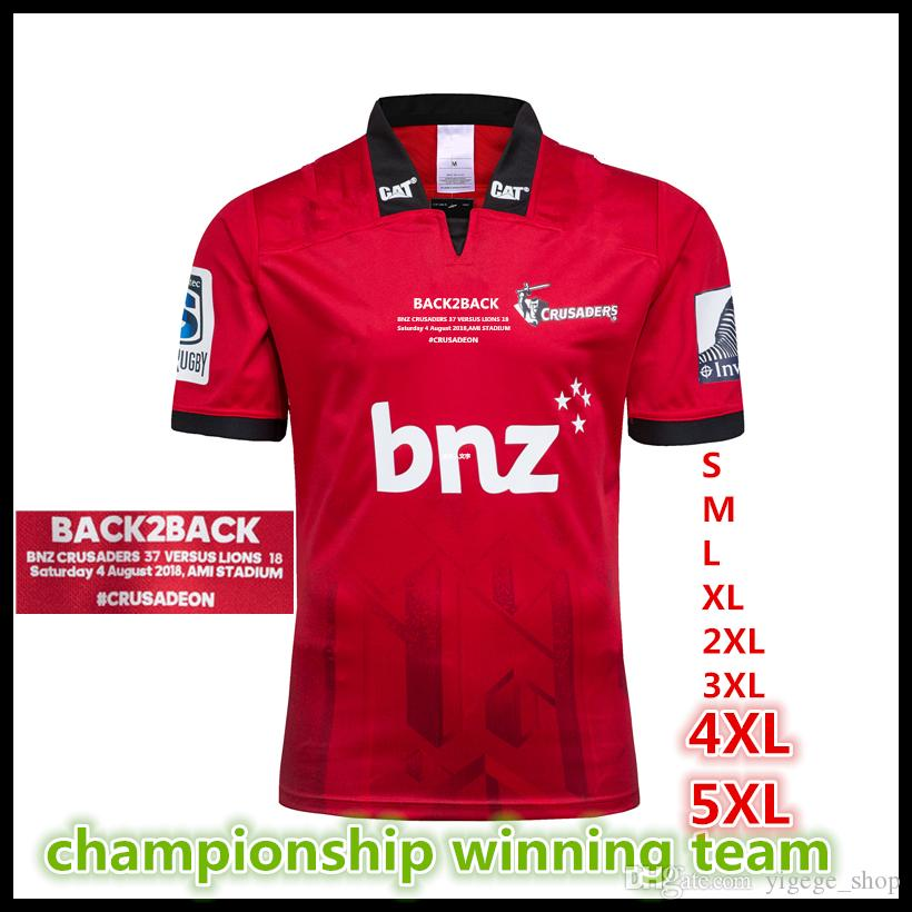 Crusaders 2018 2019 Super Rugby Winners S S Rugby Shirt New Zealand ... 5d18eb097