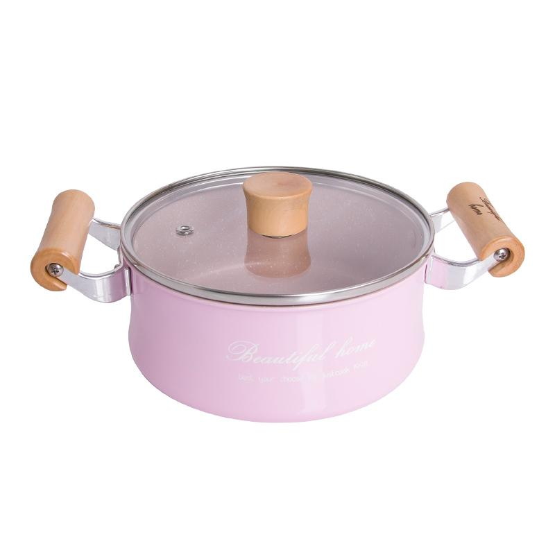16 Cm Creative No -Stick Pot Mini Milk Pan Sauce Pans Chocolate Soup Heating Pot General Use For Gas &Induction Cooker