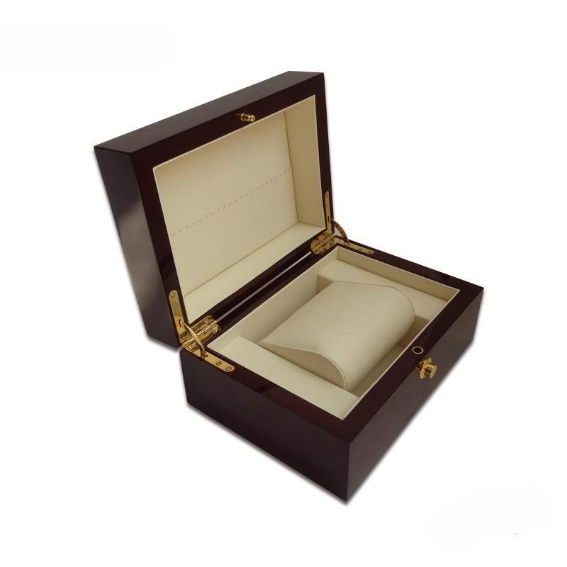 مشاهدة مربع عالية الجودة هدية الأعمال مربع التعبئة والتغليف Soild Wood مشاهدة عرض مربع بيانو ورنيش مجوهرات التخزين المنظم