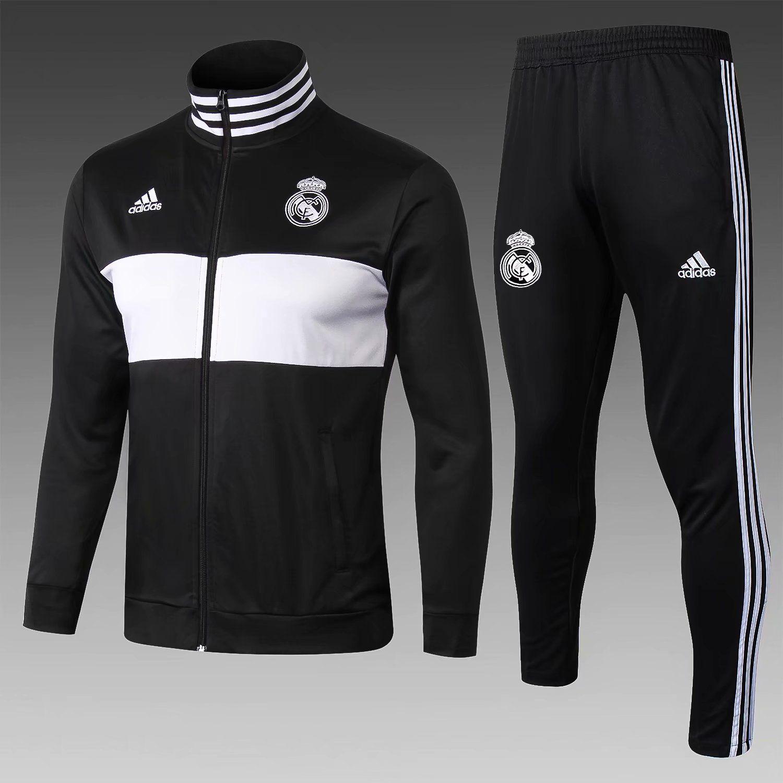 Compre 20192018 Chaqueta De Chándal De Fútbol Del Real Madrid Camiseta DE  Soccer 18 19 Ronaldo DE Pies DYBALA Campana Ramos ISCO Chaqueta De Traje De  ... 11cd9d25d0ccf