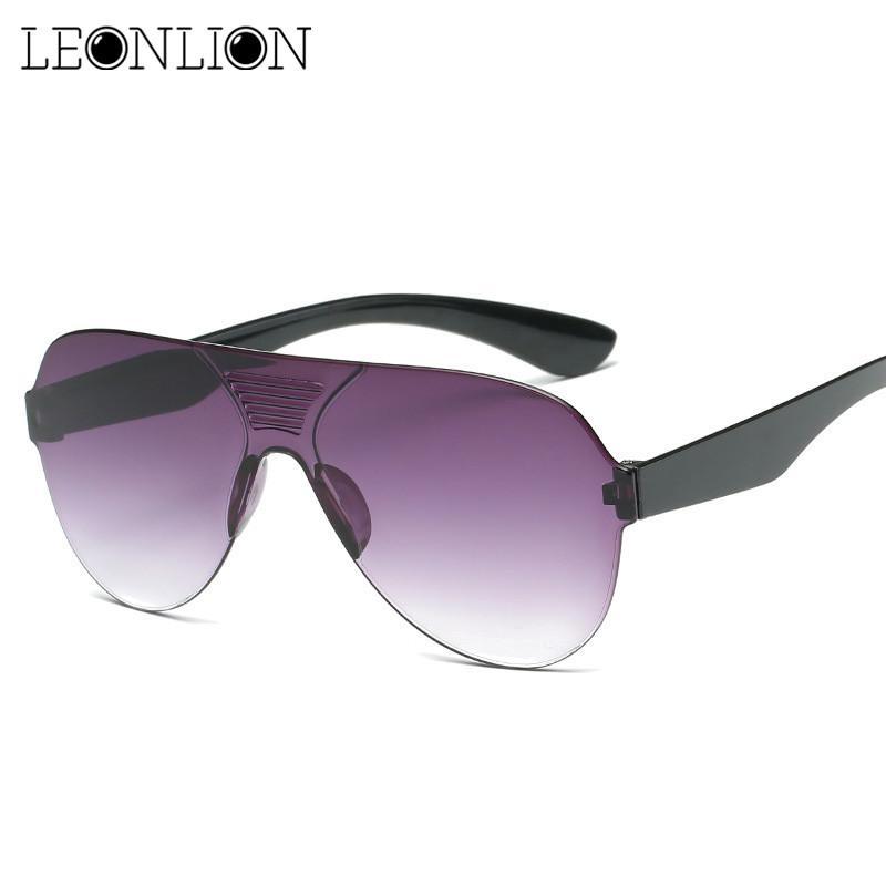 1321ad9936a2 Leonlion 2018 Classic One Piece Sunglasses Man Colored Driving HD Pilot Sun  Glasses Women Men Brand Designer Vintage UV400 Cheap Designer Sunglasses ...