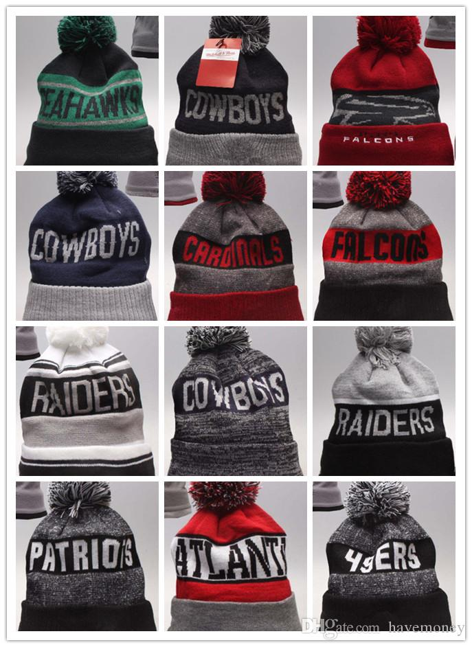 Sportlegging Winter.Wholesale Winter Beanie Knitted Hats All 32 Teams Baseball Football