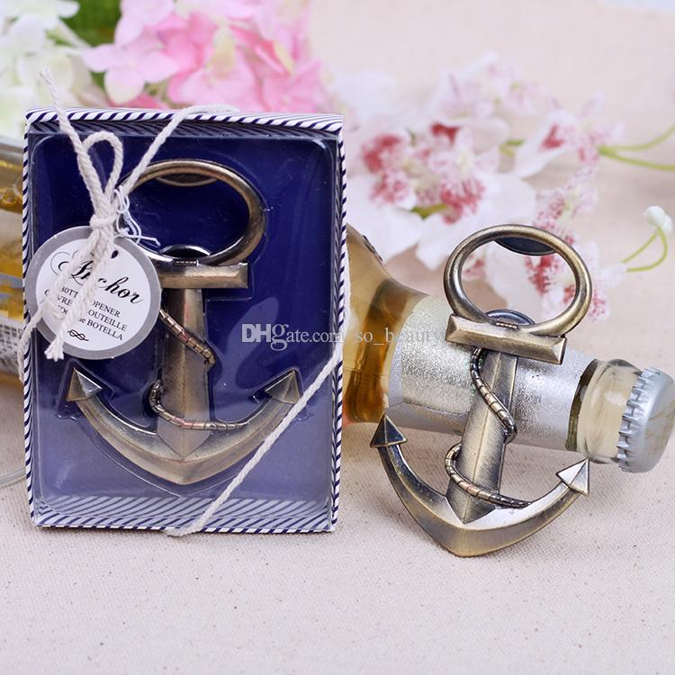Retro Anchor Bottle Opener Deixe a Aventura Begin Wedding Favors Adorável Presente de Natal Favor de Partido Frete Grátis Novo