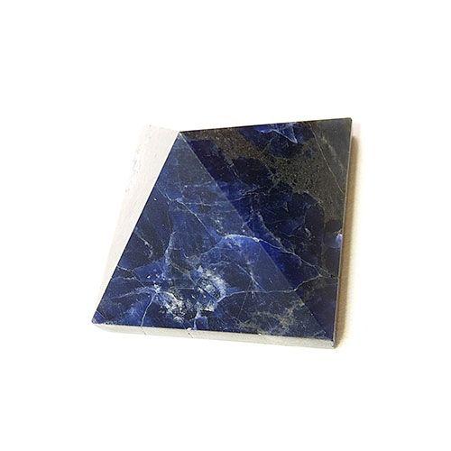 bleu pyramide en cristal de quartz de sodalite pour la guérison positive énergie psychique Reiki dégringolant cadeau de bureau à domicile en pierre lâche Quadripod nouveau
