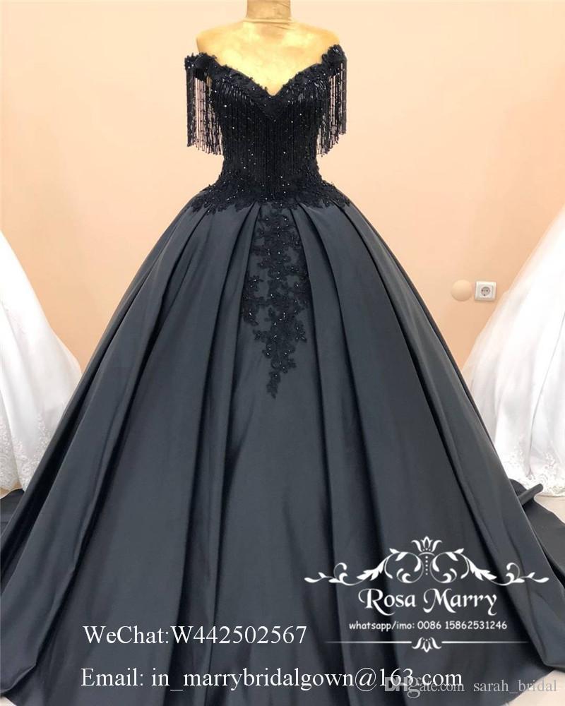 großhandel luxus schwarz ballkleid abendkleider 2020 plus größe  schulterfrei vintage spitze perlen pailletten afrikanische arabische satin  formale