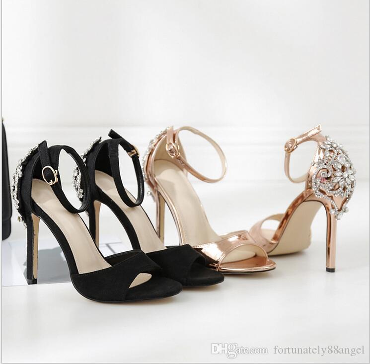 5365c23956e Compre Mulheres Sandálias De Cristal Glitter Bomba 2018 Salto Alto 11 CM  Sandálias Senhora Chique Tampa Do Salto Do Partido Sexy Sapatos De ...