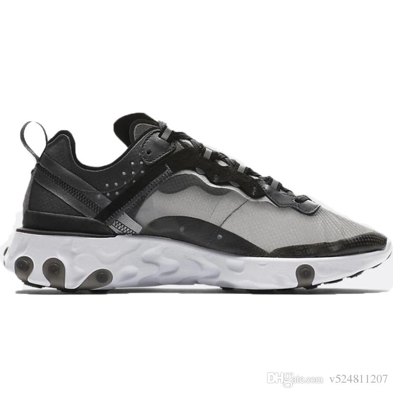 50bd6cdae479 UNDERCOVER X Upcoming React Element 87 Pack White Epic Sneakers Brand Men  Women Trainer Men Women Designer Running Shoes Zapatos 2018 New Running  Sneakers ...