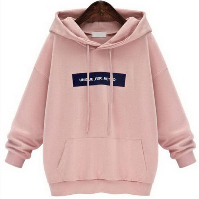 d7e15c9a4db 2019 Sweatshirts Female Hoodie Pink  Gray Plus Size Sweatshirt Hoodies  Women Long Sleeves Hoody For Women Thicken Hooded Sweatshirt From  Clothingdh