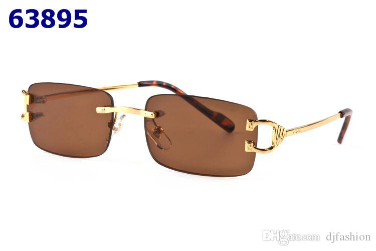 520a3dbfe97 Fashion Rimless Frames Optical Sunglasses For Men Women Metal Legs ...