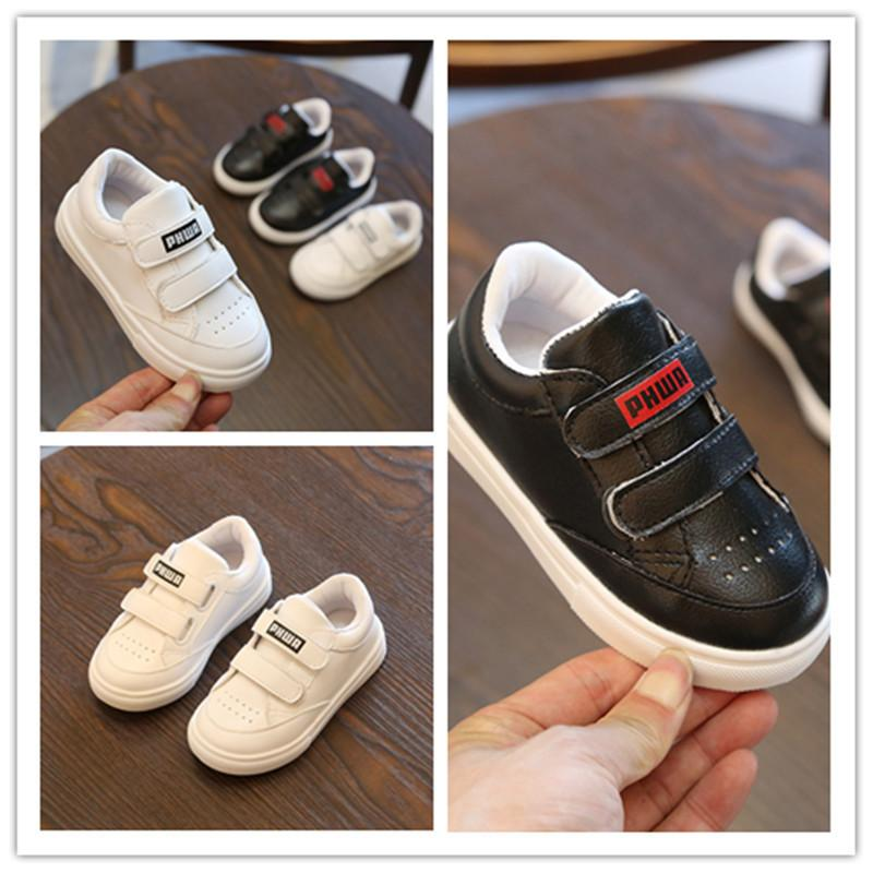 Children Small White Shoes Boy And Girl Magic Sticker Joker Child Sneakers  Autumn 2018 New Pattern Leisure Baby Boys Shoes Kids Branded Shoes Toddler  Name ... 90b7dd4354a2