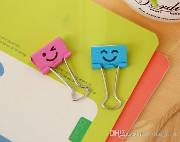 Cartoon Colorful Smiling Long Tail Metal Binder Document Clips More Size Office Supplies Food Bag Clips Note Clips