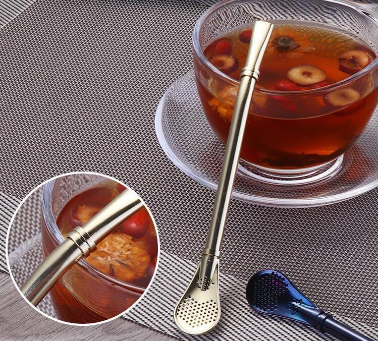 Stainless Steel Drinking Straw Filter Handmade Yerba Mate Tea Bombilla Gourd Washable Practical Tea Tools Bar Accessories freeship