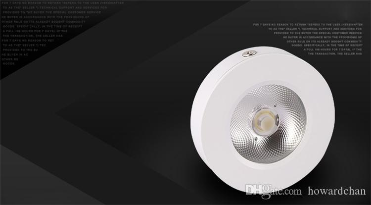 3W 5W 7W Focos LED Lámparas de iluminación trasera de negocios para mostrador de Showroom Showcase Showcase Gabinete Armario AC85-265V