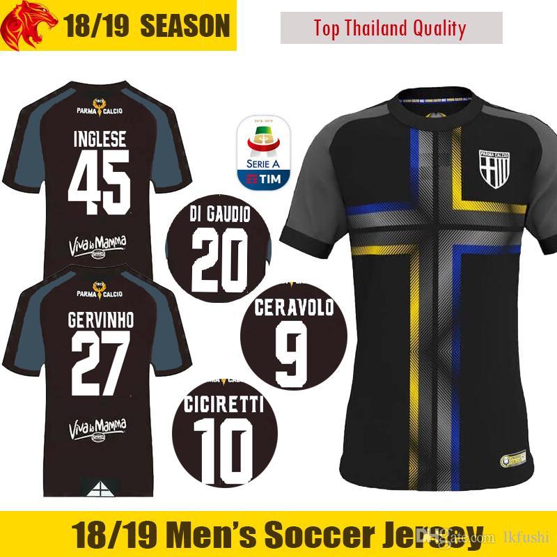 18 19 Parma Camiseta De Fútbol CICIRETTI 2018 2019 Parma Calcio 1913  CERAVOLO INGLESE Camiseta De Fútbol DI GAUDIO Camiseta De Fútbol BARILLA  Parma GERVINHO ... e547eb104fa79
