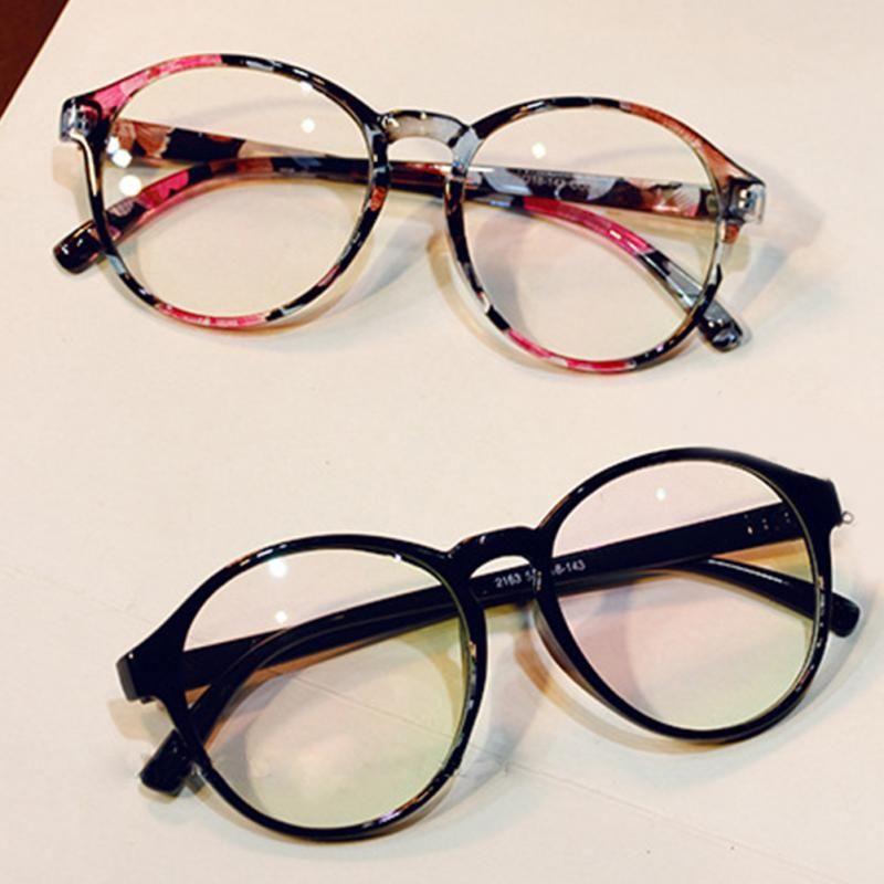 Compre Moda Vintage Óculos Ópticos Quadro De Vidro Transparente Das Mulheres  Dos Homens De Marca Redonda Clara Transparente Mulheres Óculos Oculos  Femininos ... 0493a9fd97