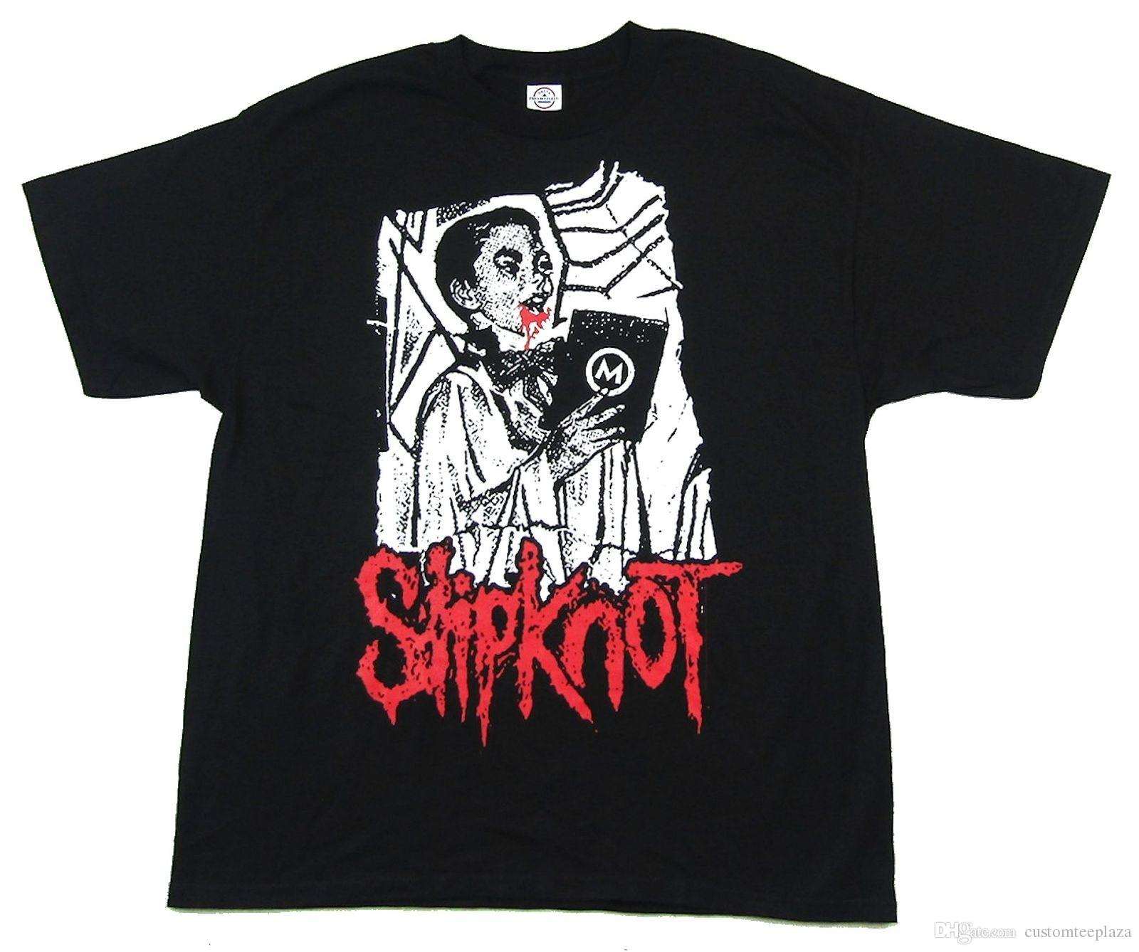 ca55d47f586 Slipknot Altar Boy Black T Shirt New Official Band Merch Tee Shirt Men Man  s Top Design Custom Short Sleeve Plus Size T-Shirts