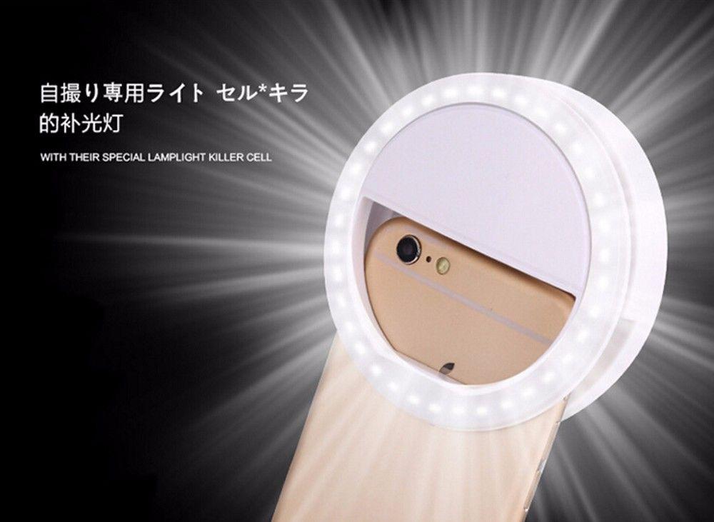 LED Universal Photographie Flash Light Up selfie LED Photographie Flash Light Up selfie lampe lumineuse Nuit Téléphone Anneau
