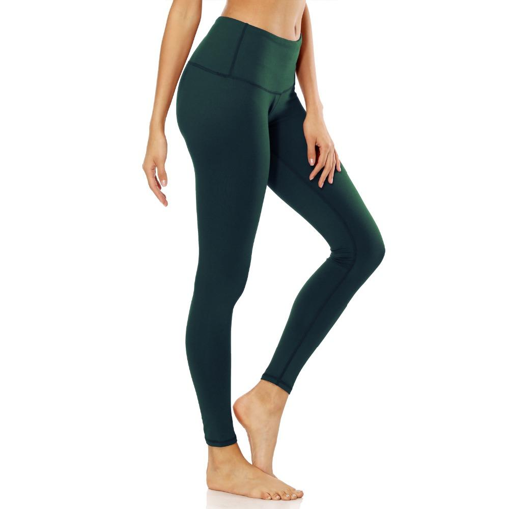 60534844fc4 2019 2018 Women Elastic High Waist Solid Sport Tight Slim Stretch Pant Plus  Size 2XL Fitness Yoga Running Exercise Workout Long Pant From Shanquanwat