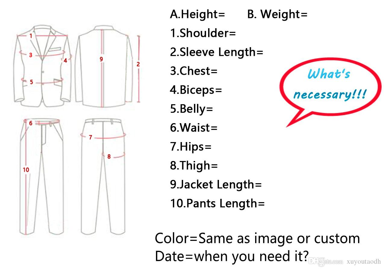 Men Suits 2018 Black Notched Lapel Double Breasted Custom Made Wedding Suits Bridegroom Tuxedo Blazer Slim Fit Formal Best Man Prom