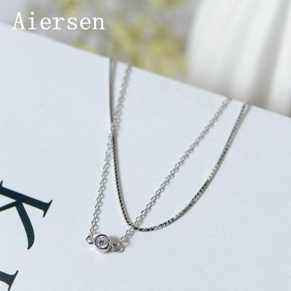 Fine Jewelry Aiersen Simple Pure Silver 925 Anklet Adjustable Leg Bracelets Exquisite Double-layer S925 Chain Luxgem Clear Cz Zircon Anklets Professional Design Anklets