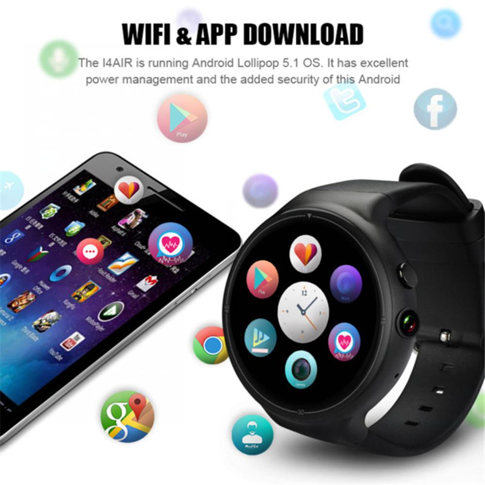 I4 Air Smart Watch 2G + 16G Quad Core Android 5.1 Wrist Phone Wifi Heart Rate Monitor Pay GPS 2.0 MP Camera SIM Card Smartwatch