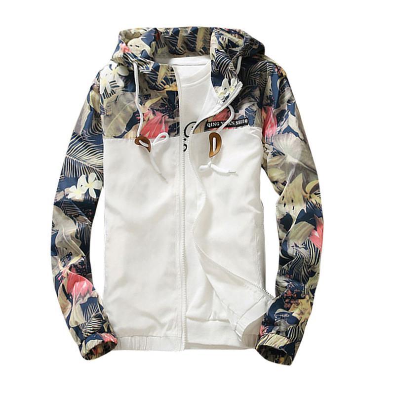7412839aa Femme Floral Blanc Femmes Veste D'hiver Chaud Bomber Veste Femmes Vêtements  Manteau Denim Chandail Coupe-Vent