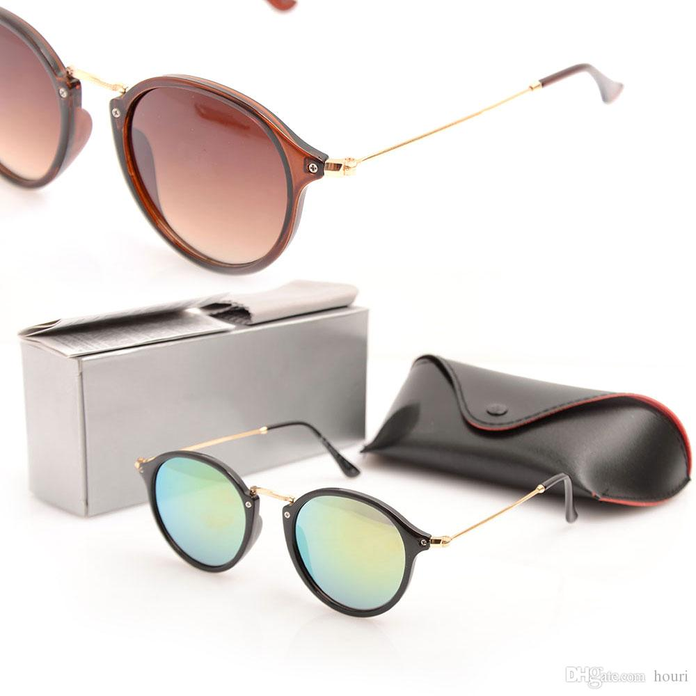 336b4d0be New Brand Designer 2447 Round Sunglasses for Male And Female Retro ...