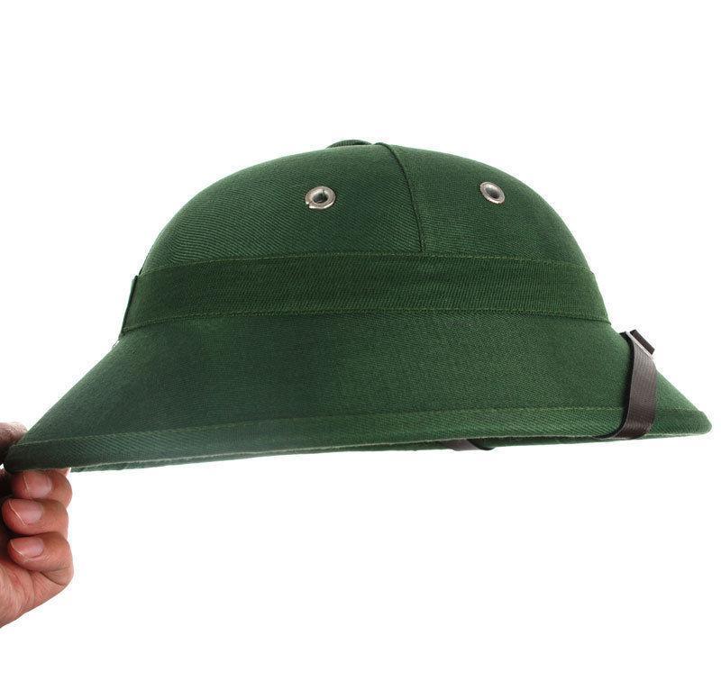 VIETNAM WAR HAT NVA VIETCONG VC PITH HELMET JUNGLE EXPLORER CAP GREEN -  World Store