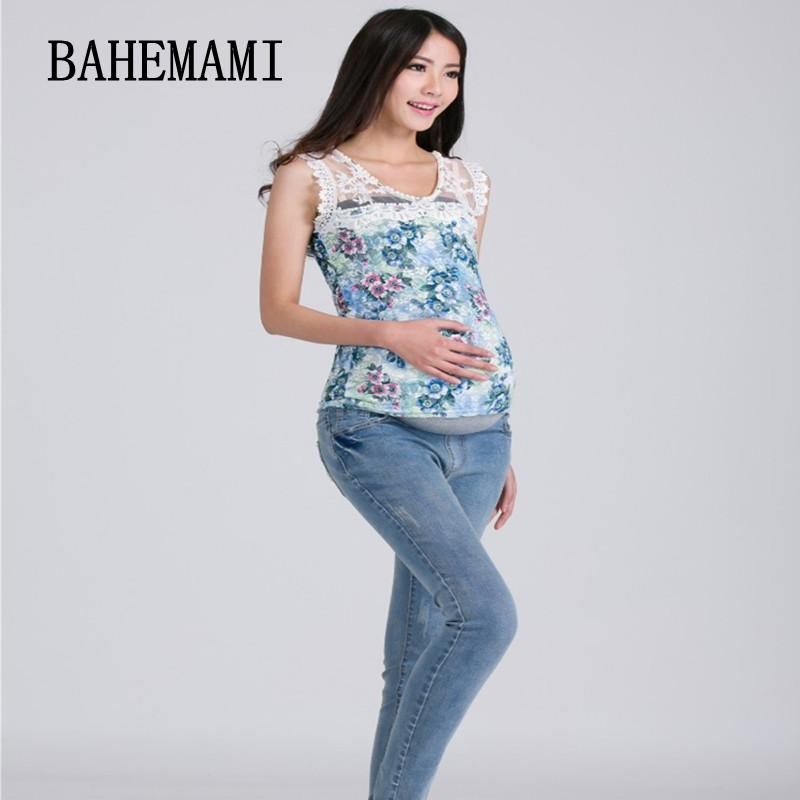 fea63ae84f 2019 3XL Big Size Elastic Waist 100% Cotton Maternity Jeans Pants For Pregnancy  Clothes For Pregnant Women Legging Autumn Winter From Jeanyme