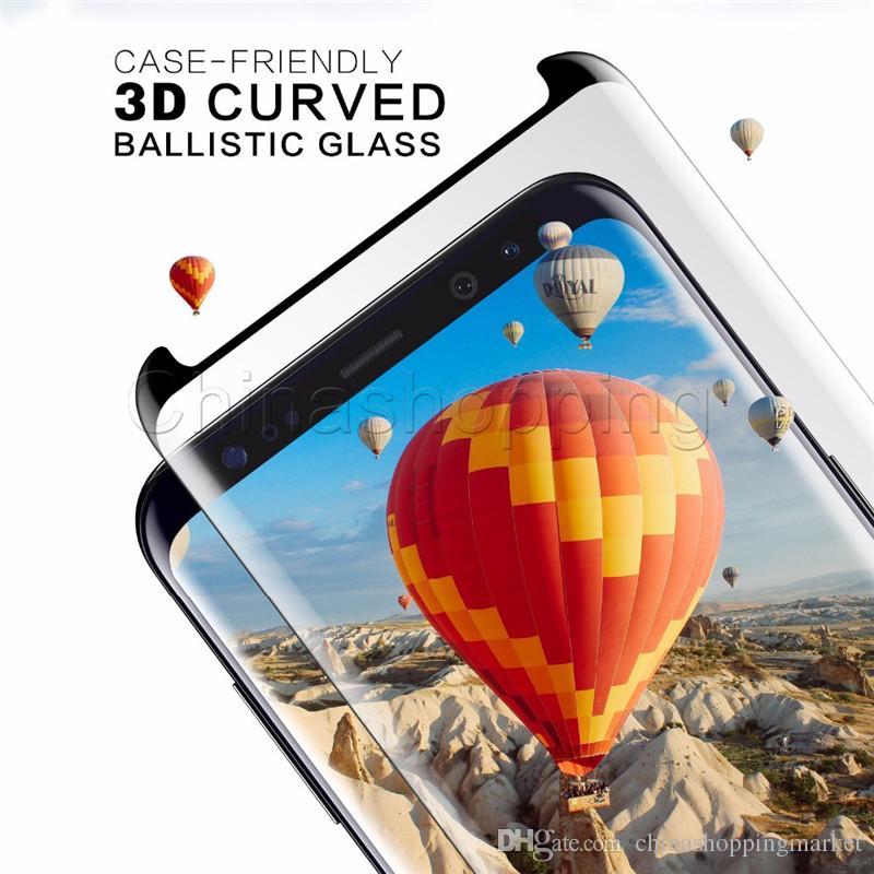 Чехол Friendly 3D изогнутый экран протектор Flim полной поверхности закаленное стекло крышка для Samsung S9 S8 Plus S7 Edge с розничной упаковке