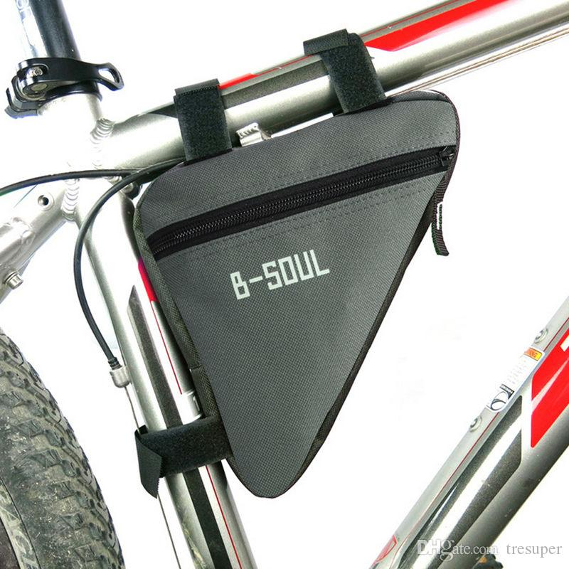 1.5L Waterproof Mountain Bicycle Bike Triangle Bag Front Frame PVC Tube Triangle Bike Pouch Bag With Hook Loop Tapes