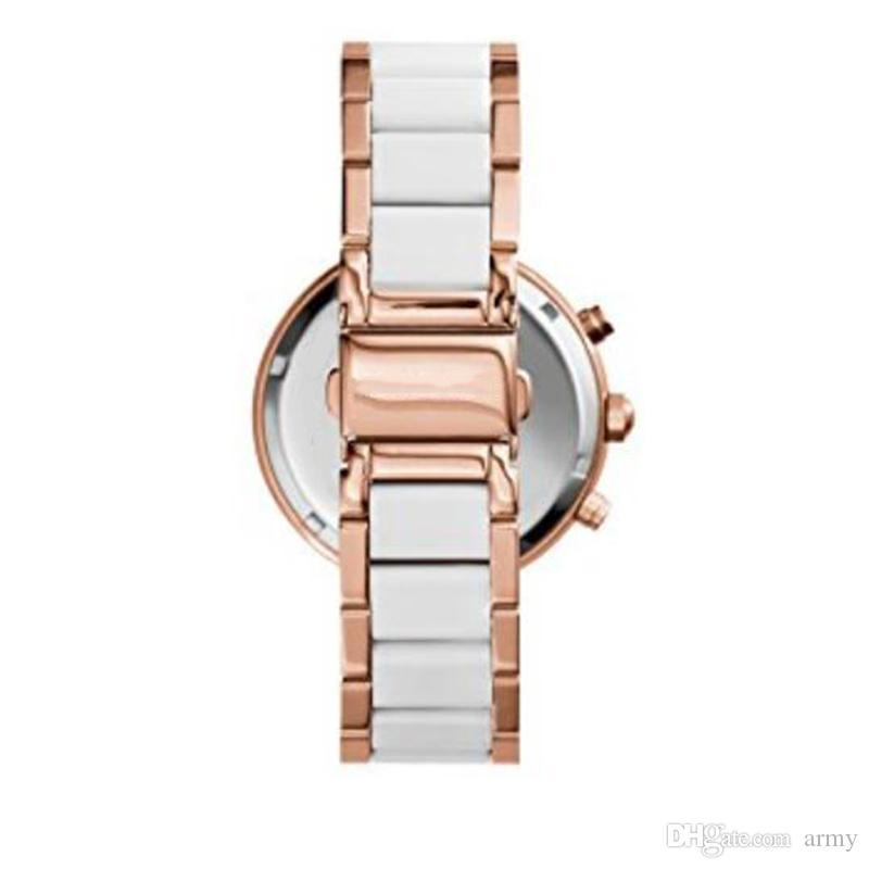 2018 Women's Parker Rose Gold-Tone Watch 5774 Chronograph White Rose Gold Two-Tone Ladies Watch