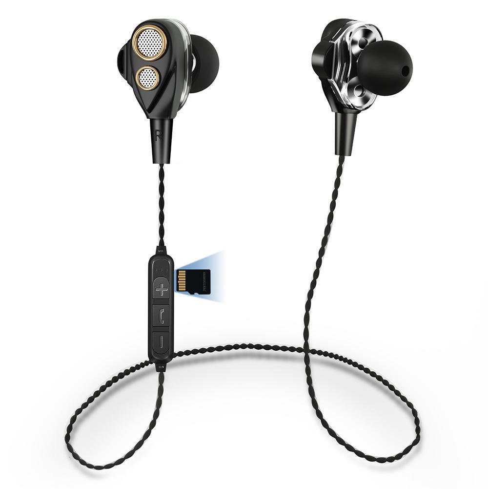 Die Besten In Ear Kopfhörer Bluetooth Kopfhörer HIFI Sport Stereo Bass  Earbuds 4 Lautsprecher Dual Dynamic Treiber Headset Bluetooth 4.1 Wireless  Kopfhörer ... 72a22e2a25