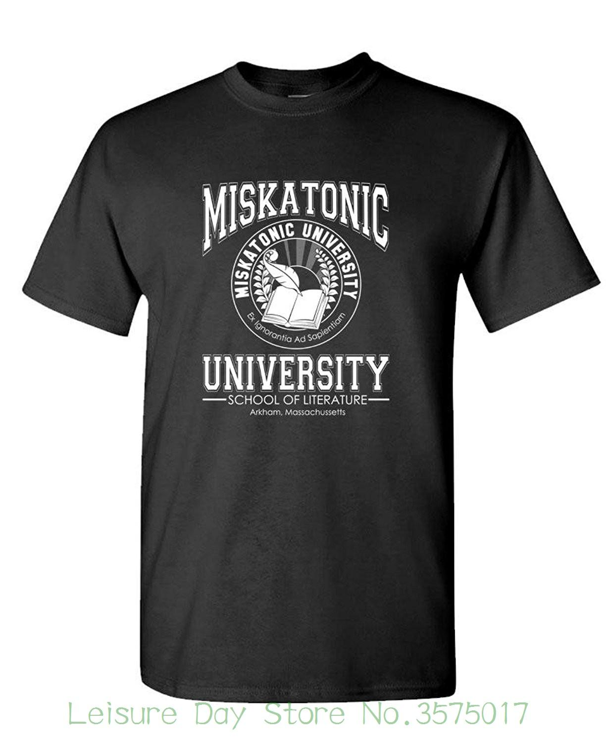 Summer man t shirt tops tees new live nice miskatonic literature mens cotton online with 17 71 piece on funnyteestores store dhgate com